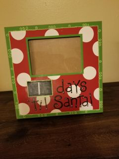 Christmas count down frame and Chalkboard