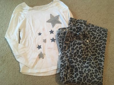 Girls size 5/6 top and jeans