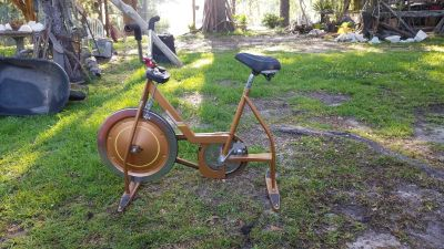 Vintage gold colored Schwinn exercycle