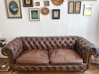 Chesterfield Sofa - Brown Leather 83