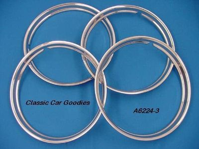 """Purchase Trim Rings Classic 14"""" Polished Stainless (4) Street Rod motorcycle in Aurora, Colorado, US, for US $129.99"""