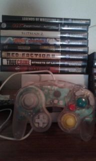 Gamecube with 18 games controller and memory units