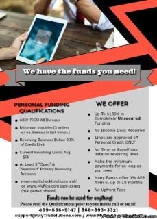 $**Unsecured Personal Funding**$