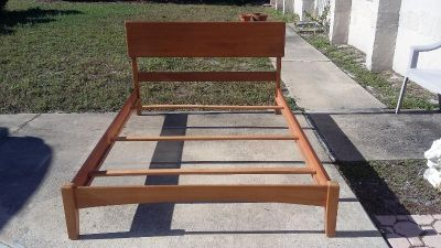 Mid Century Style Full Size Bed Frame.
