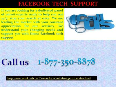 Enhance your business profits with Facebook Tech Support @ 1-877-350-8878