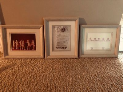 3 Framed and Matted Anne GEDDES Prints