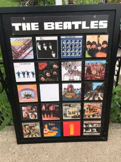 The Beatles wood display