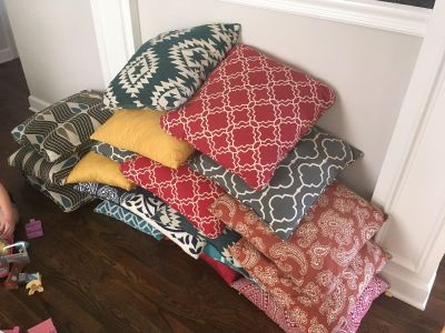 Lots of Throw Pillows