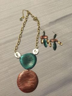 Gorgeous multi color necklace and matching earrings