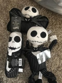 3 NWT nightmare Before Christmas Dog toys