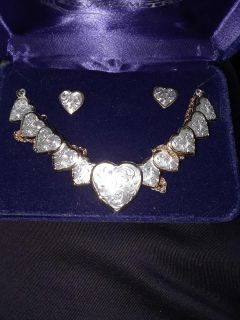 Montana Silversmith Heart of Silver necklace and earring set