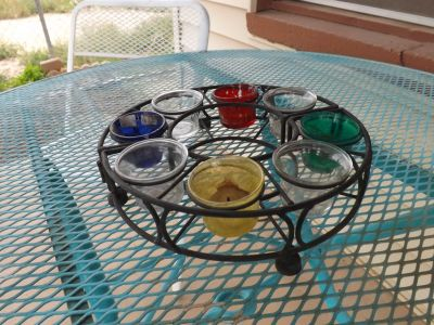 Candle table set