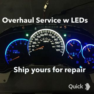 Purchase 03-06 Silverado,Tahoe ,Suburban Speedometer cluster REPAIR SERVICE with LEDs motorcycle in Tulsa, Oklahoma, United States, for US $138.95