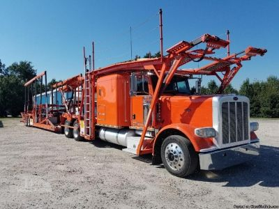 2014 Peterbilt 388 Semi Tractor With 10 Car Carrier
