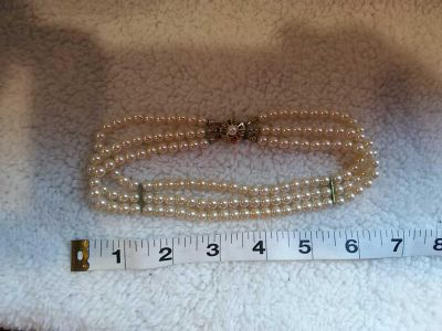 Pearl-look choker, 13 inches