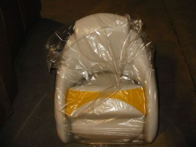 Buy NOS OEM CROWNLINE BOAT FLIP UP BUCKET SEAT WHITE YELLOW motorcycle in Fenton, Missouri, United States, for US $399.99