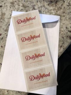 Four tickets to Dollywood