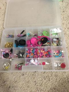 Container with craft/ jewelry making materials