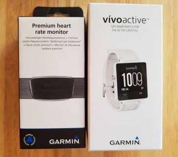 Garmin Vivoactive watch & Garmin Heartrate monitor
