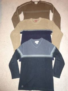 3 mens knit sweaters size S