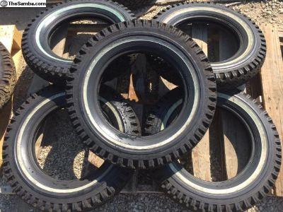NOS stock set of 5 Wolfsburg 5.60-15 tire