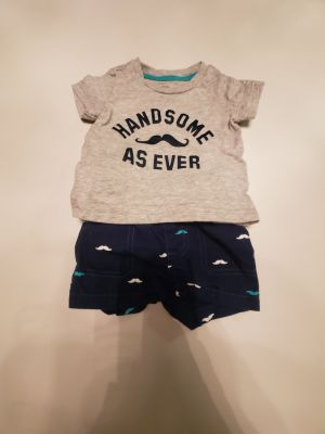 """Adorable Carter's """"Handsome As Ever"""" Summer Outfit"""