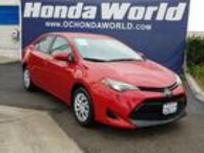 Used 2017 Toyota Corolla Red, 27.2K miles