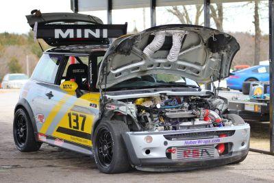 Mini Cooper big turbo track car