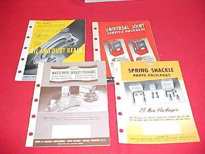 Purchase 1938 1939 1940 CHRYSLER PLYMOUTH DODGE NOS PARTS MANUAL BOOK 38 39 40 LOT OF 4 motorcycle in Leo, Indiana, US, for US $19.99