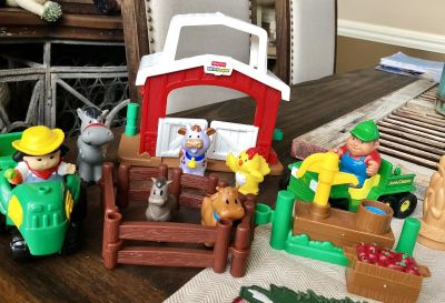 Little people barn and animals, John deer tractor ect.