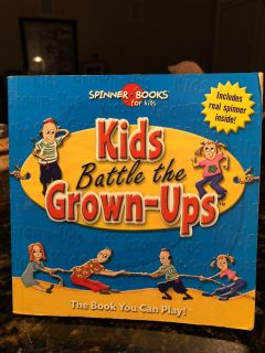 Kids Battle the Grown-Ups Spinner Books -New! - A GREAT FAMILY GAME BOOK