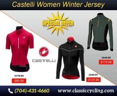 Women Apparel - Castelli Winter Jersey | Classic Cycling