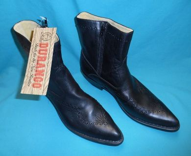 Men's short black boots Size 10