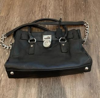 Barely Used Michael Kors Hamilton Bag, Purse With Silver Accents