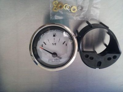 Purchase Marine Stainless Steel & White Fuel Level Gauge for Boat motorcycle in Spring Hill, Florida, US, for US $22.95