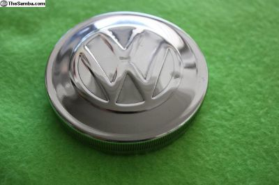 VW Gas Cap, Polished 70MM, BLAU