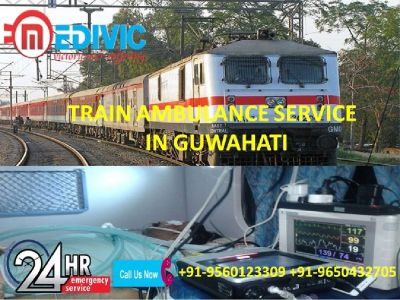 Avail Specially ICU Equipped Train Ambulance Service in Guwahati by Medivic