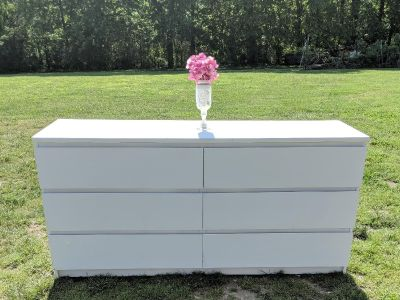 FARMSTYLE COUNTRY WHITE 6 DRAWER DRESSER