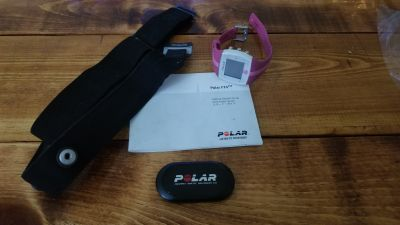 Polar FT4 Heart Rate Monitor w Chest Strap *watch needs battery*