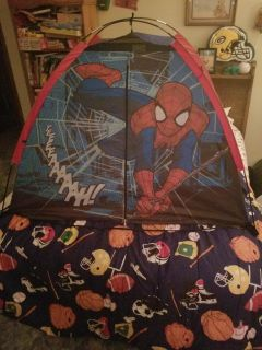 Kids Spider-Man bed tent..barely used