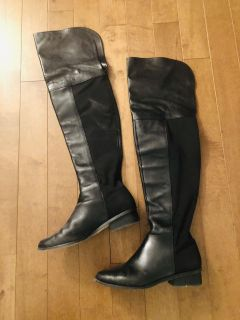 BCBG All Leather Tall Flat Boots