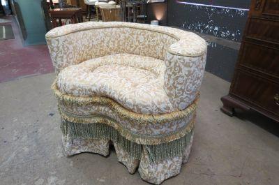 SALE! Vintage vanity chair with fringe.
