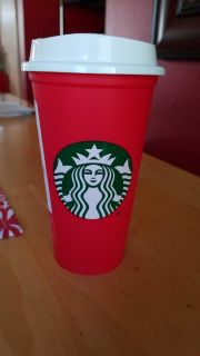 BN Starbucks Red Reusable Cup $1