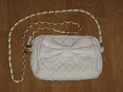 Urban Expressions White Leather Evening Hand Bag