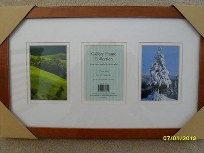 CLEARANCE 3 Picture Frame Wood - New in Box