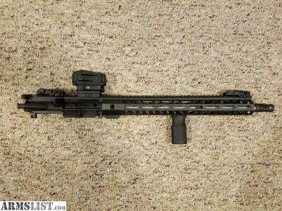 For Sale/Trade: Palmetto State Armory 16 inch stainless steel barrel upper 5.56 lightweight m-lok rail