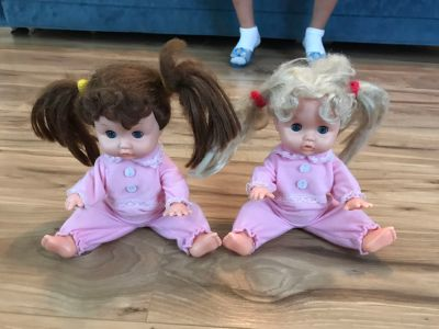 Dolls ~ arms & legs move, eyes open & close, hair is brush-able, & pj s removable