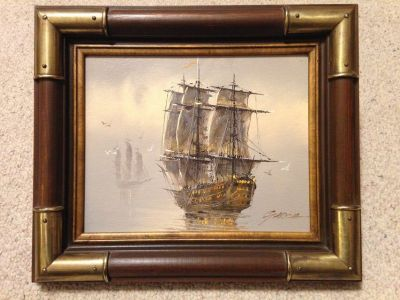 Painting of Ship by Garcia