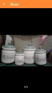 4 Ceramic canisters