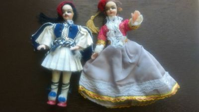 Intricate Handpainted Cloth Dolls